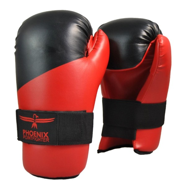 PX Pointfighting Open Hands rot-schwarz Handschutz 01
