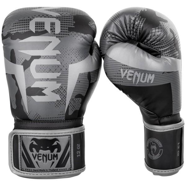 Venum Elite Boxhandschuhe schwarz/camo dunkel 01