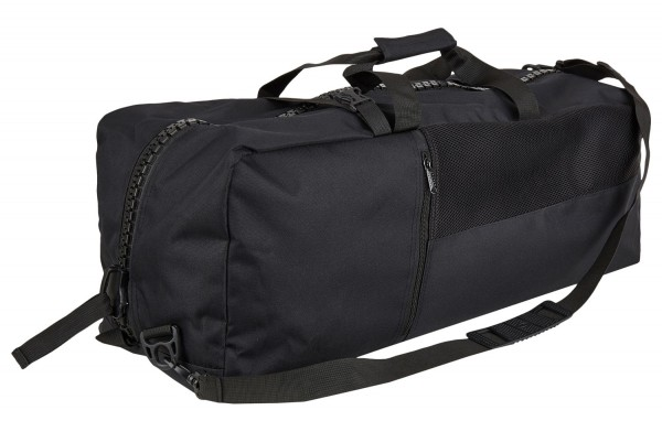 Sporttasche/Rucksack plain black XL 01