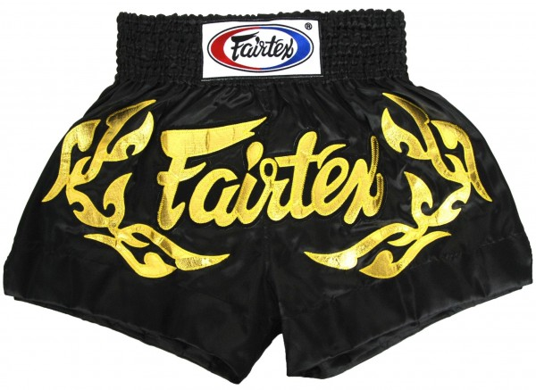FAIRTEX Thai Shorts schwarz BS0646