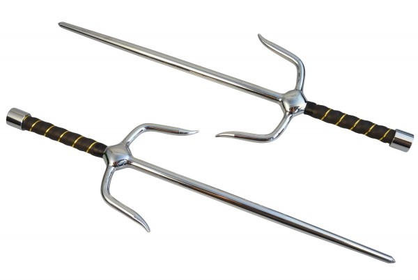 Paar Sai-Gabeln verchromt ca 48.5 cm 01