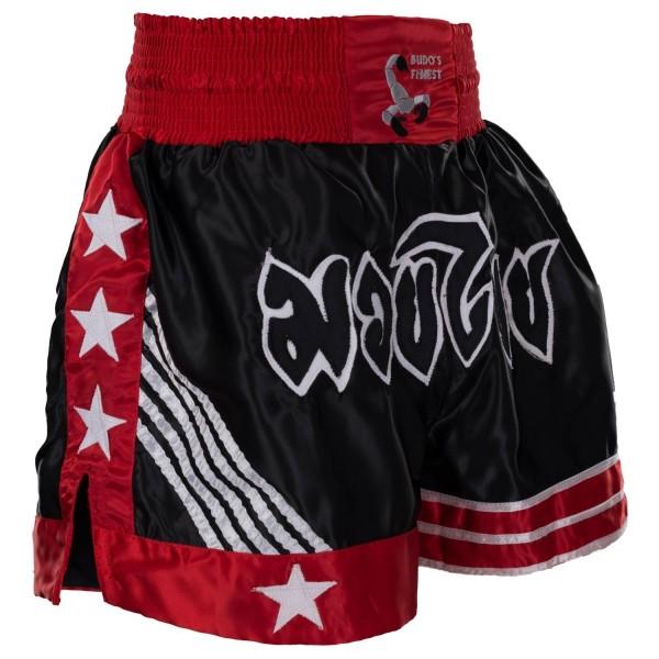 BUDO's FINEST Thai Shorts schwarz-rot