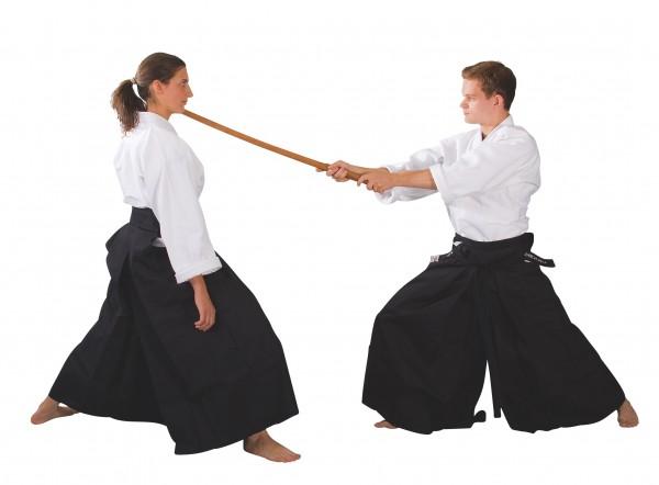 Hakama Kendo Aikido schwarz 01