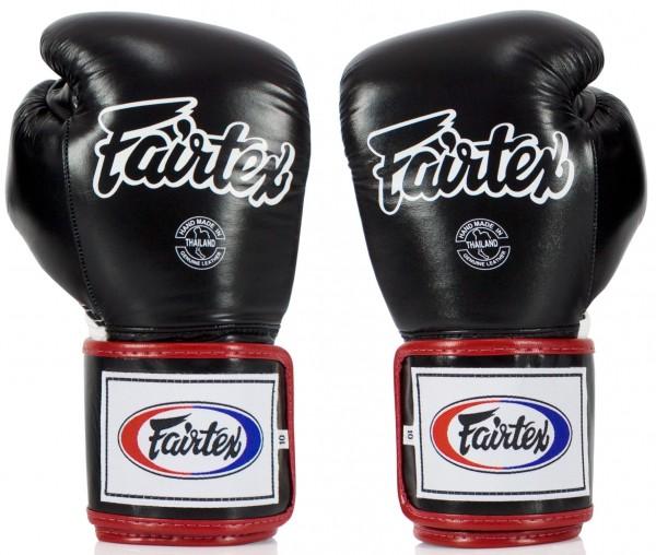 FAIRTEX BGV5 Boxhandschuhe schwarz weiß rot 01