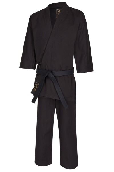 karate gi tora black 14oz canvas