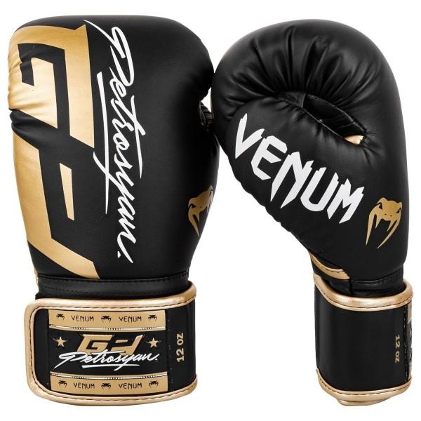 Venum Petrosyan Boxhandschuhe schwarz-gold 02