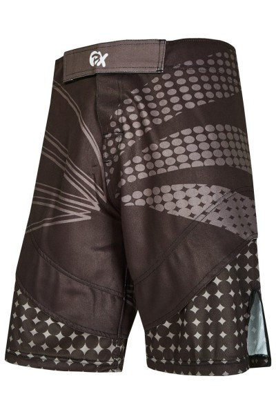 PX MMA Shorts Stretch schwarz-grau vorne