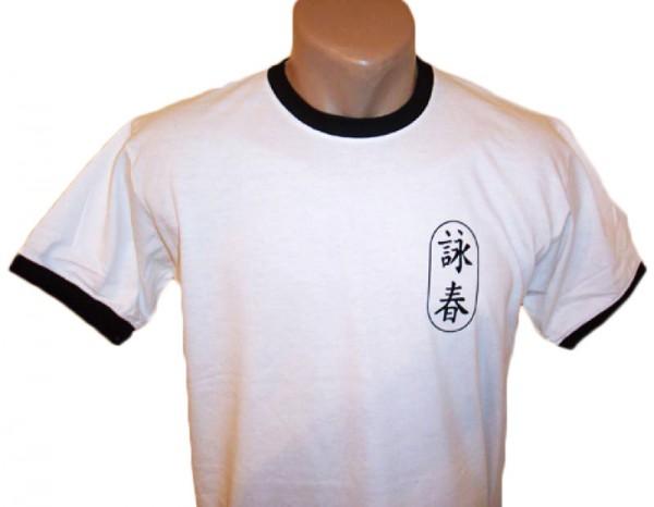 Wing Chun T-Shirt weiß-schwarz