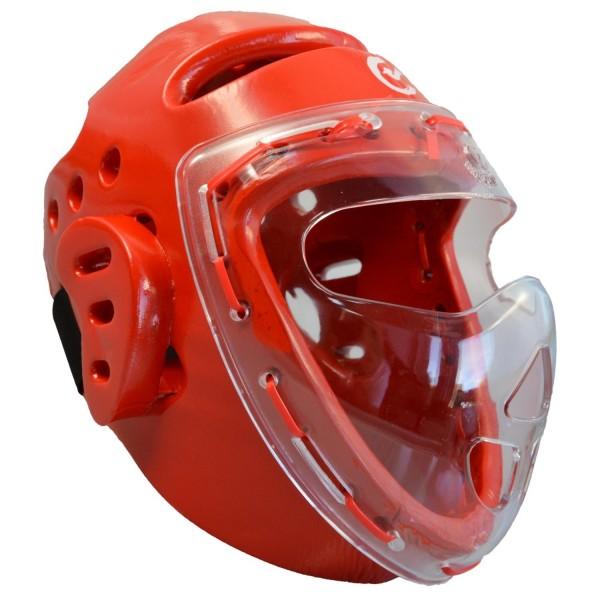 Kopfschützer rot Schaumstoff Maske WTF 01