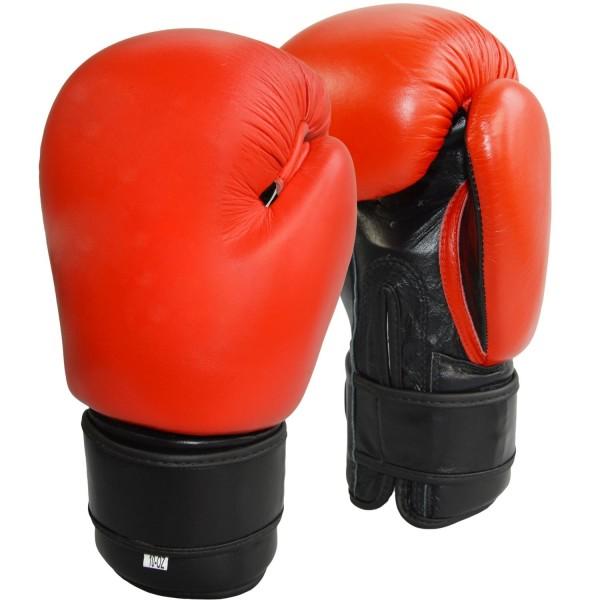 Boxhandschuhe Top-Modell rot Echtleder 01