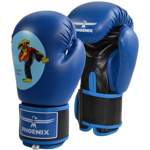 Junior Boxhandschuhe PU blau BUDOBAERT 01