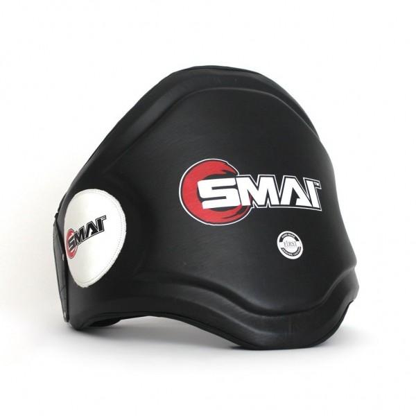 SMAI Thai Bauchschutz Echtleder schwarz-weiß 01 Schutzweste