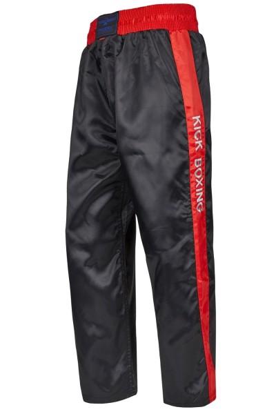 PHOENIX Kickboxhose schwarz-rot Stick 01