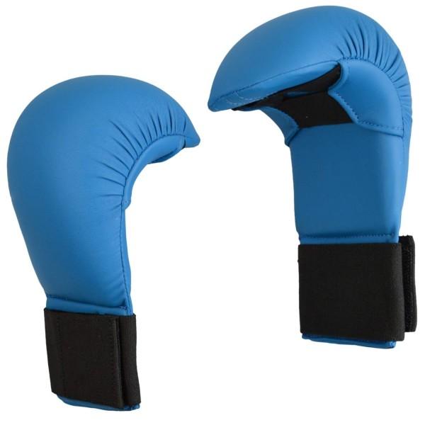Karate Wettkampfhandschutz blau 01