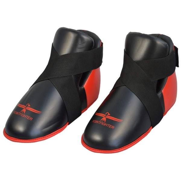 Fußschutz rot-schwarz Zehentasche 01