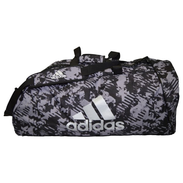 ADIDAS 2 in 1 Bag schwarz-camouflage-silber L 01