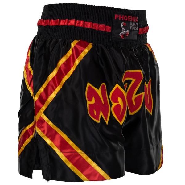 BUDO's FINEST Thai Shorts | schwarz-rot-gelb