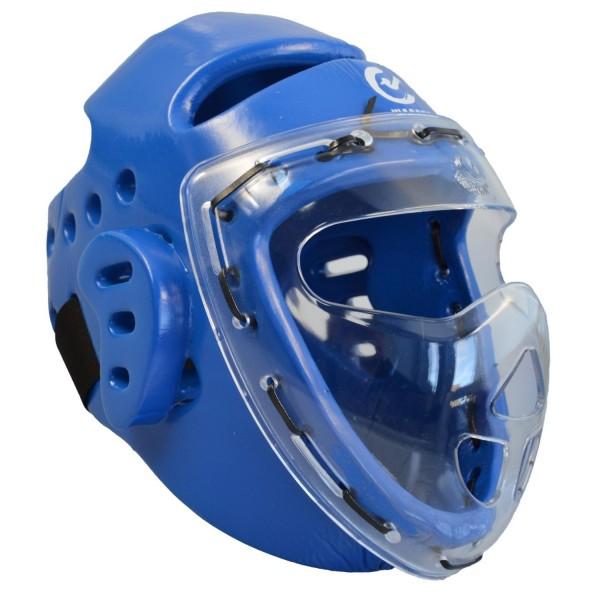 Kopfschützer blau Schaumstoff Maske WTF 01