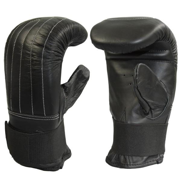 Sandsackhandschuhe Leder schwarz 01