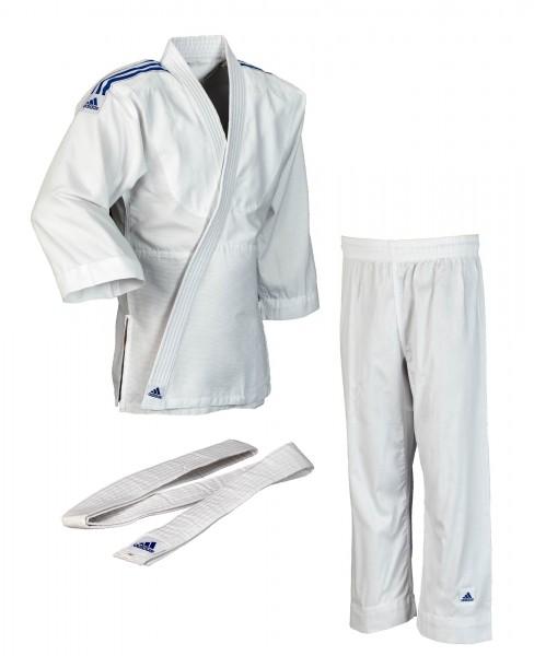 adidas judo club weiss blaue streifen
