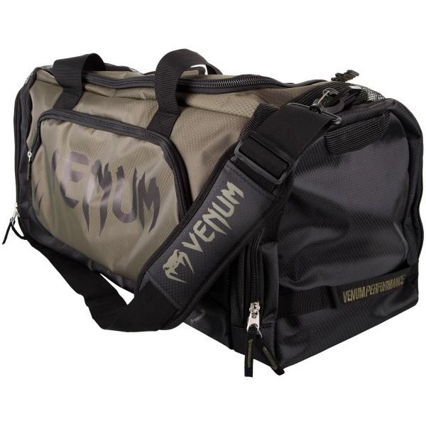 Venum Trainer Lite Sport Bag | khaki-schwarz 01