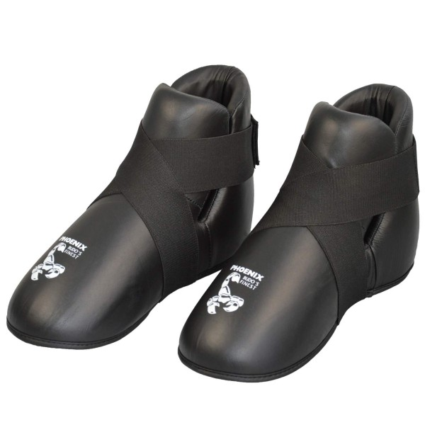 BUDO'S FINEST Leder Fuß-Safety schwarz 01