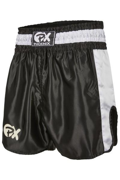 PHOENIX Thai Shorts Contender schwarz-weiss 01