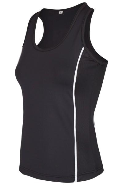 PX Ladies Stretch Boxshirt schwarz 01