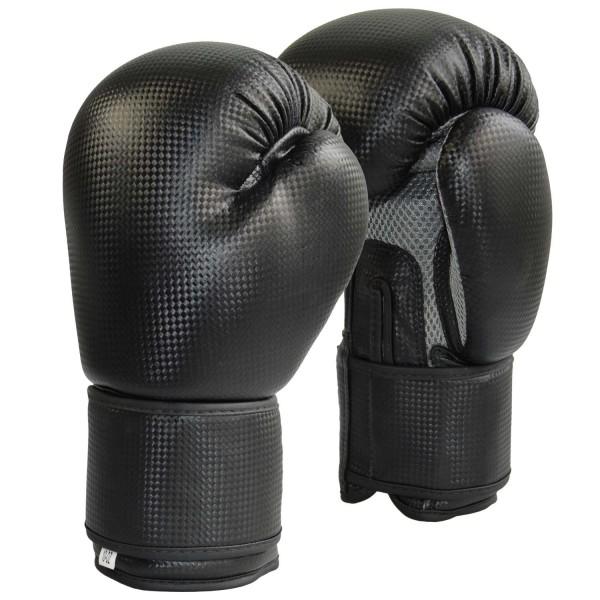 Boxhandschuhe Carbon Optic schwarz-Mesh grau