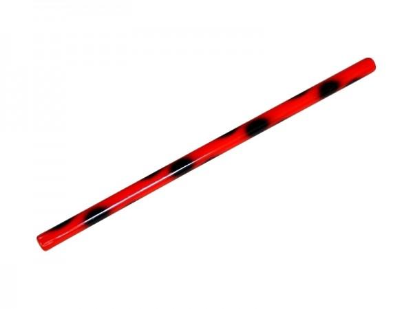 Escrima-Stock Rattan schwarz rot 01