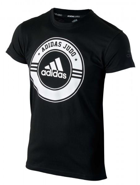 ADIDAS T-Shirt Combat Sport Judo schwarz-weiß 01