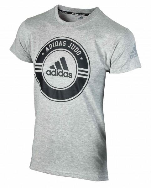 ADIDAS T-Shirt Combat Sport Judo grau-schwarz 01