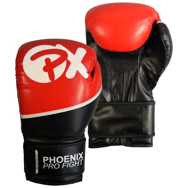 PX PRO FIGHT Boxhandschuhe PU schwarz-rot 01