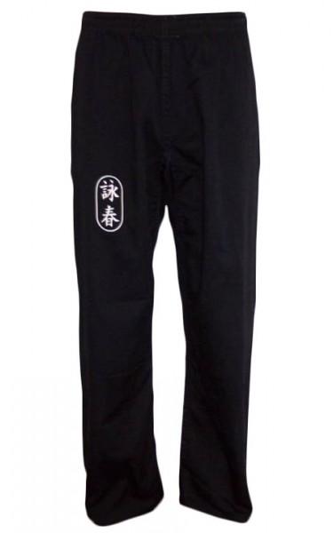 Wing Chun Hose schwarz mit Schriftzeichen