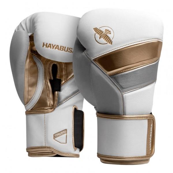Hayabusa 12oz T3 Boxhandschuhe weiß-gold 01