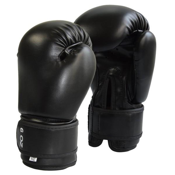 Junior Boxhandschuhe Kunstleder schwarz 6oz