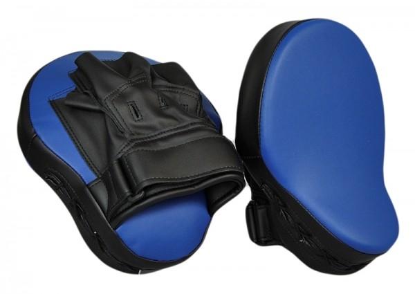 Handpratze gekrümmt Kunstleder blau-schwarz