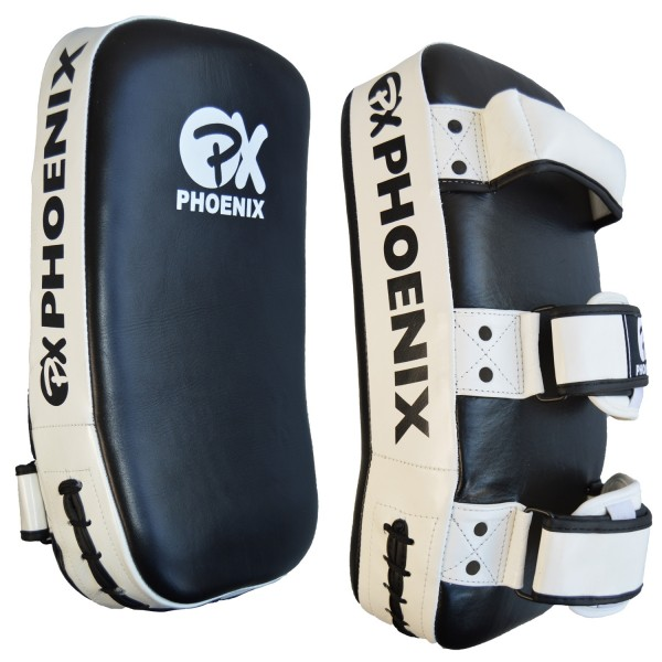 PX Thai pad Echtleder schwarz-weiß PAAR 01