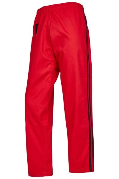 Universalhose Elastikbund rot schwarze Streifen 01