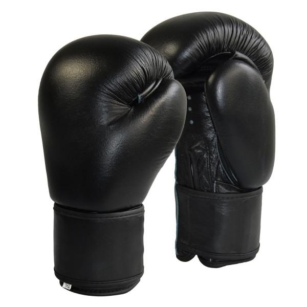 Boxhandschuhe Top-Modell schwarz Echtleder 01