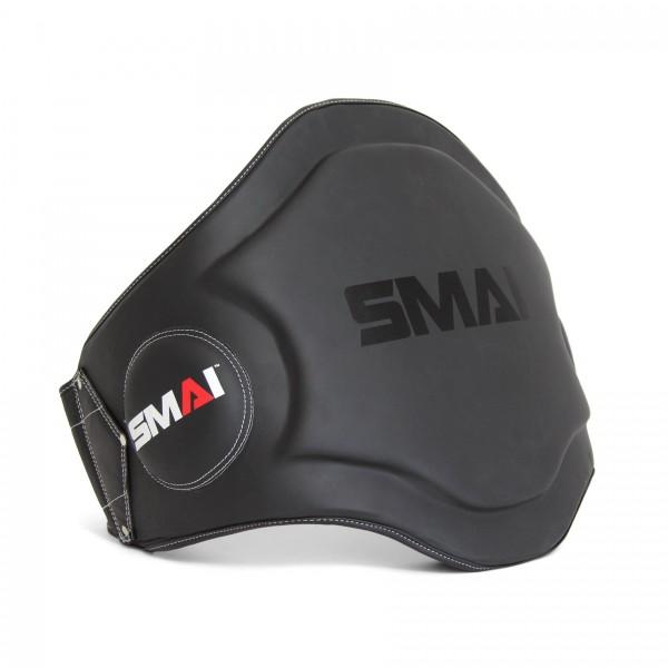 SMAI Thai Bauchschutz Echtleder schwarz-weiß
