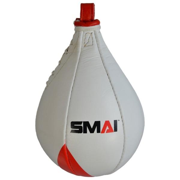 SMAI Echtleder Speedball ca. 25 cm rot-weiß