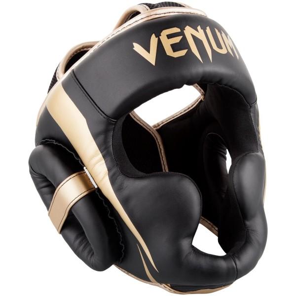 Venum Elite Kopfschutz schwarz-gold 01