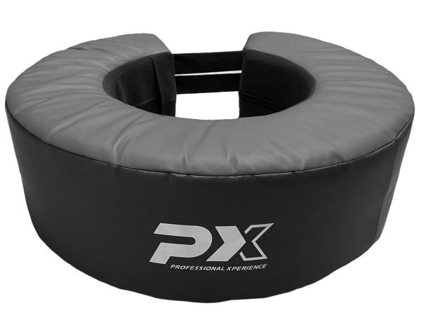 Boxsack-Ring schwarz-grau