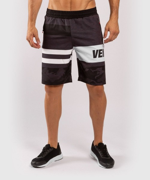 Venum BANDIT Trainings Shorts schwarz/grau 01