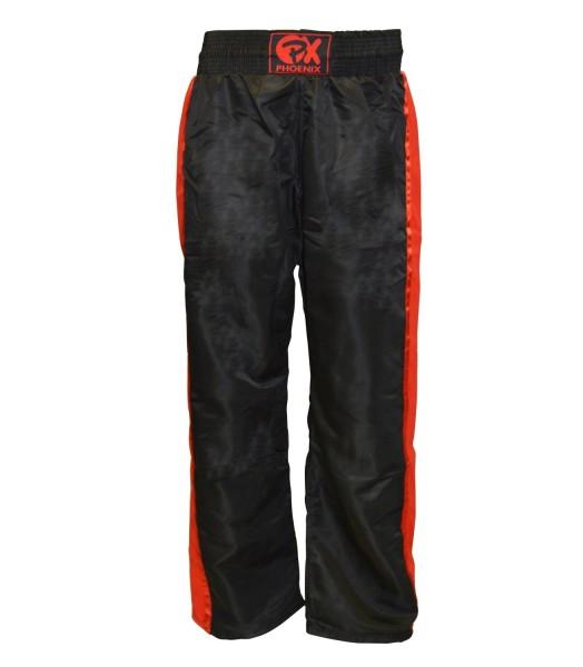 PX Kickboxhose Dynamic schwarz-rot 01