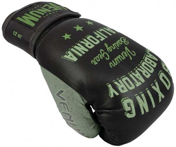 Venum Boxing Lab Boxhandschuhe schwarz-khaki 01