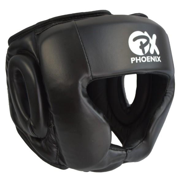 PX PHOENIX Kopfschutz Kunstleder schwarz 01