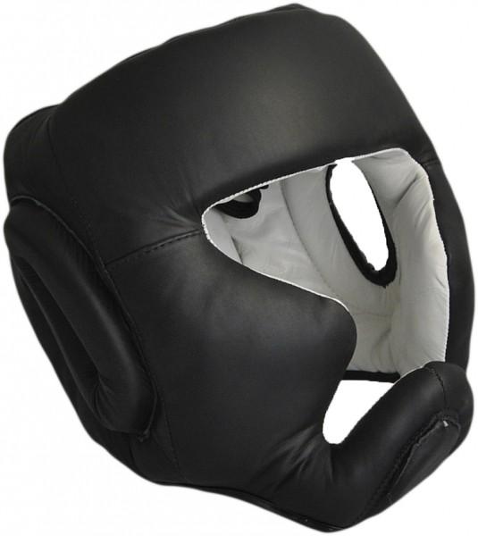 Kopfschutz Echtleder schwarz 01