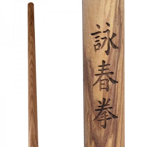Wing Tsun Langstock mit Wing Chun Schriftzug Esche 01